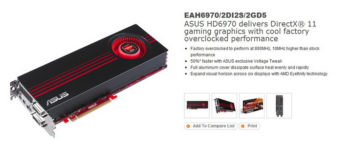 1 ASUS Radeon HD6970 2GB DDR5 Review