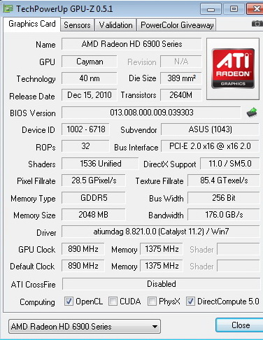 df ASUS Radeon HD6970 2GB DDR5 Review