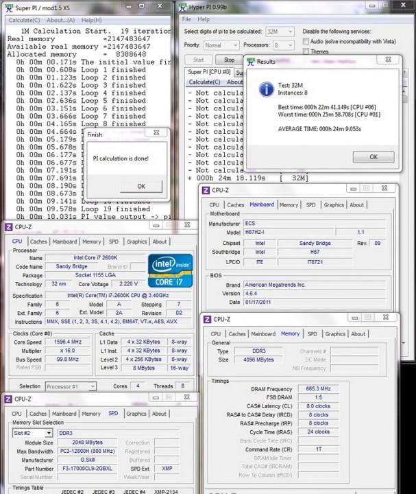 superpi 1 607x720 ECS H67H2 I Mini ITX Motherboard Review