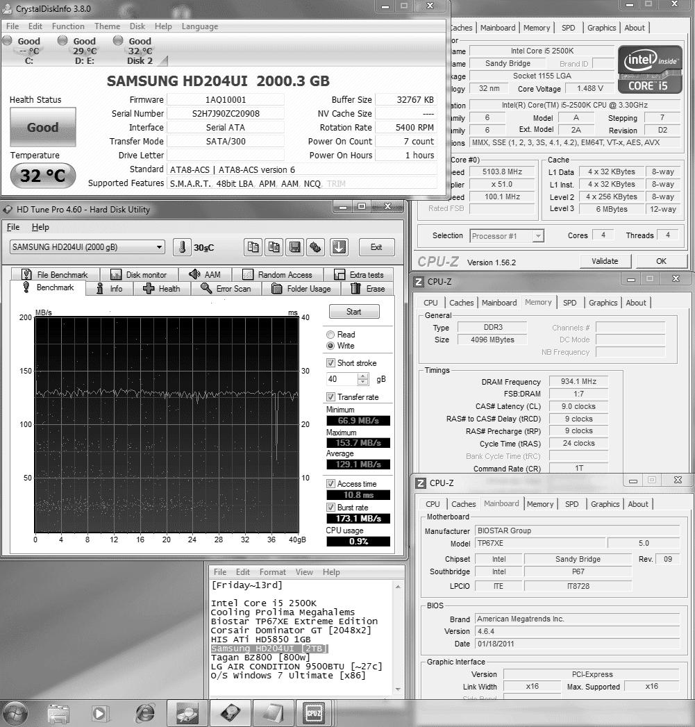 11 2tb hdtunewrite40gb 1291 Samsung SpinPoint F4EG HD204UI [2TB] : Review