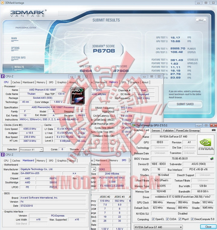 906 9502 ASUS Geforce GT440 1GB GDDR5 Review