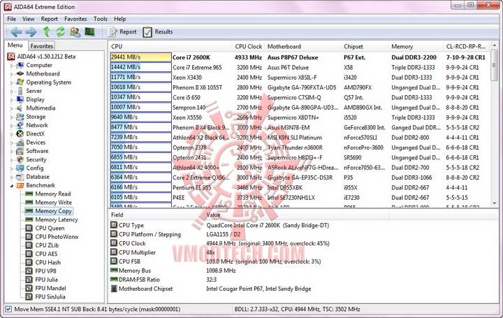 aida mem copy resize ASUS P8P67 DELUXE Motherboard