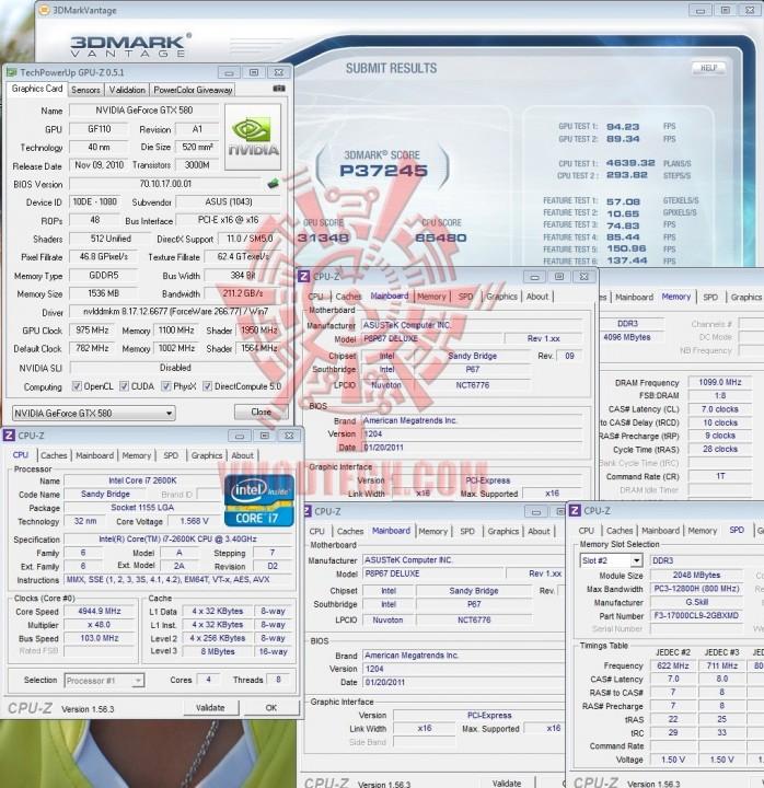 vantage 698x720 ASUS P8P67 DELUXE Motherboard