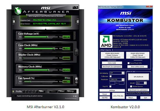 afterburner kombustor MSI Afterburner V2.1.0