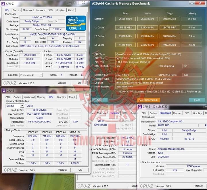 aida cache and mem 720x661 G.Skill RipjawsX F3 17000CL9D 4GBXL
