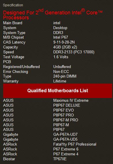 spec2 G.Skill RipjawsX F3 17000CL9D 4GBXL