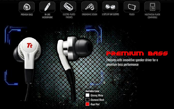 feature Tt ESPORTS ISURUS Inear Gaming Headset