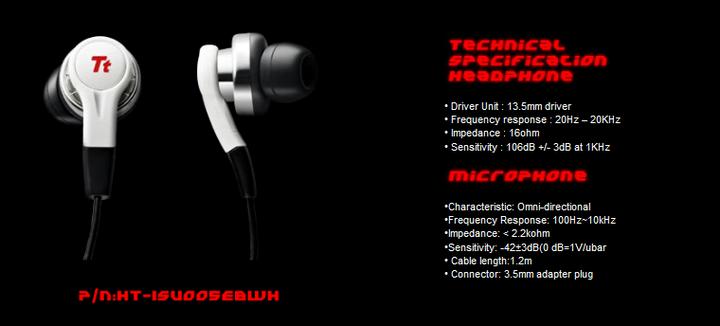 spec Tt ESPORTS ISURUS Inear Gaming Headset