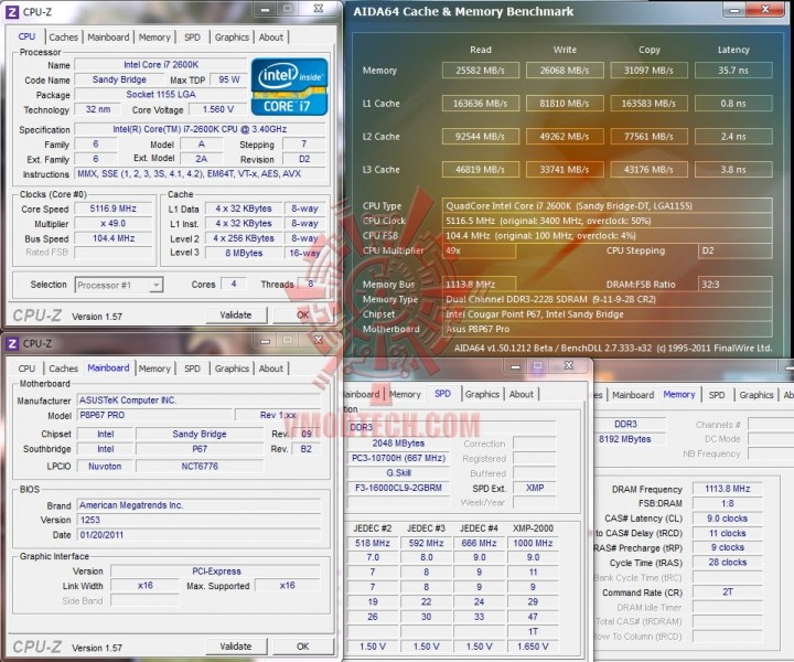 aida cache 720x600 G.Skill Ripjaws F3 16000CL9D 4GBRM X2
