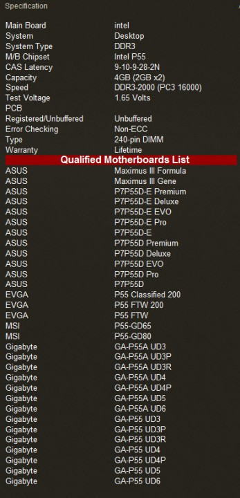 spec1 347x720 G.Skill Ripjaws F3 16000CL9D 4GBRM
