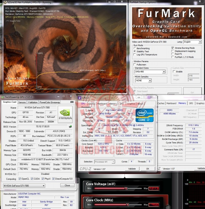 furmark 706x720 ASUS GTX580 Voltage Tweak