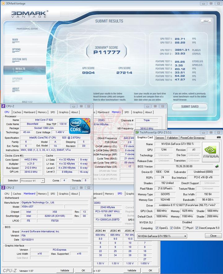07np a PaLiT NVIDIA GeForce GTX 550 Ti Sonic 1GB GDDR5 Debut Review