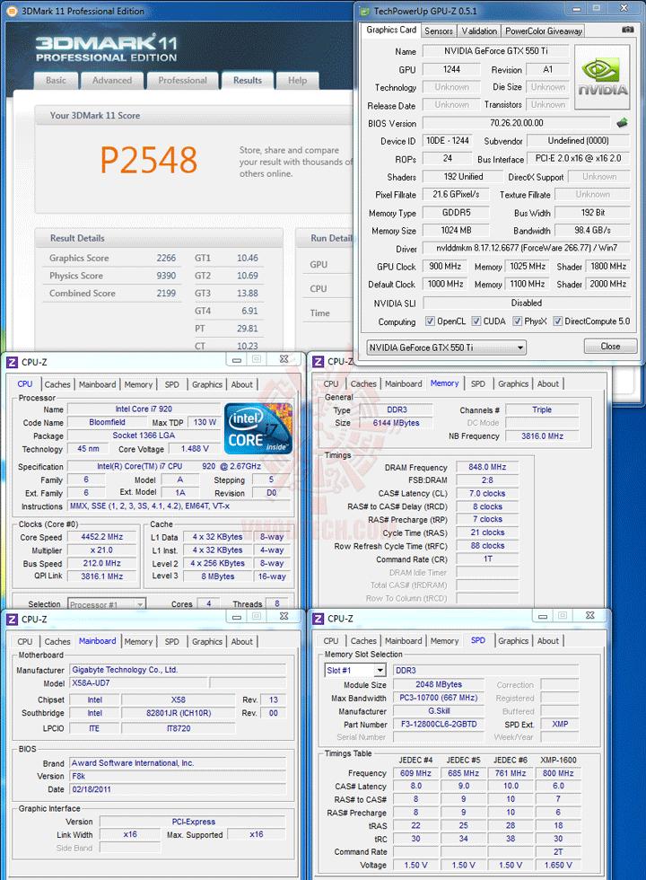 11 a PaLiT NVIDIA GeForce GTX 550 Ti Sonic 1GB GDDR5 Debut Review
