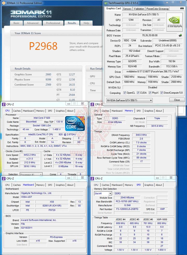11 d PaLiT NVIDIA GeForce GTX 550 Ti Sonic 1GB GDDR5 Debut Review