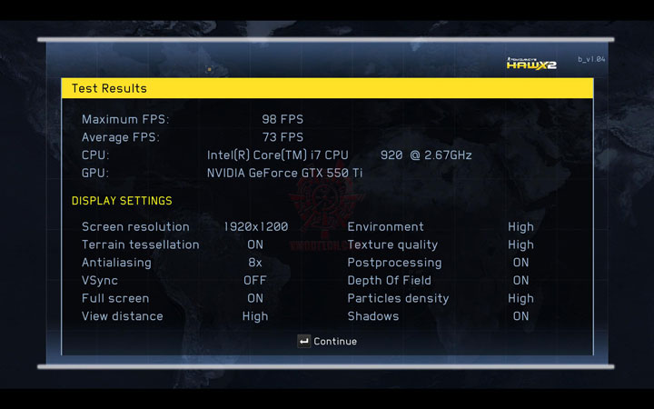 hawx2 dx11 c PaLiT NVIDIA GeForce GTX 550 Ti Sonic 1GB GDDR5 Debut Review