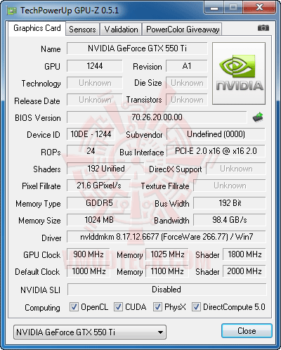 gz a PaLiT NVIDIA GeForce GTX 550 Ti Sonic 1GB GDDR5 Debut Review