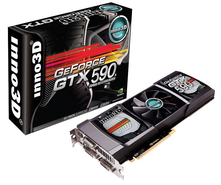 inno3d geforce gtx 590 set NVIDIA GeForce GTX 590 3GB GDDR5 Debut Review