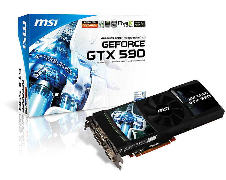 msi n590gtx p3d3gd5 v801  g57 v100802  1 NVIDIA GeForce GTX 590 3GB GDDR5 Debut Review