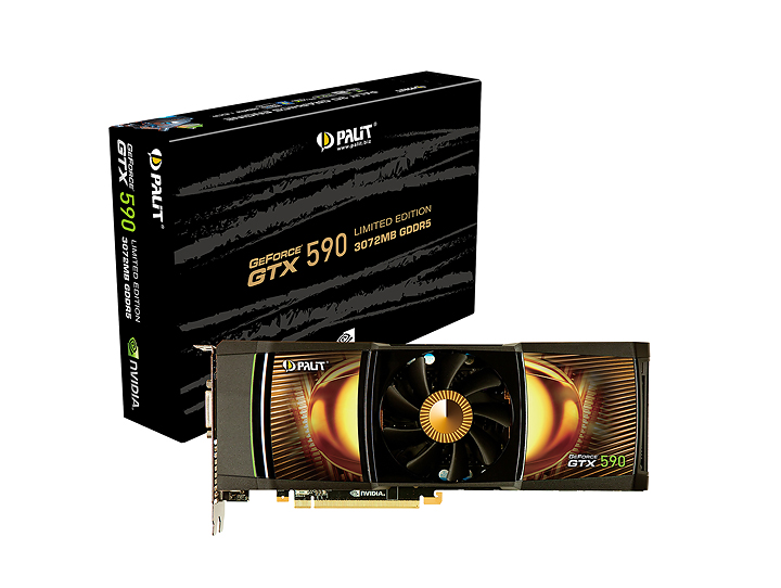 palit gtx590 NVIDIA GeForce GTX 590 3GB GDDR5 Debut Review