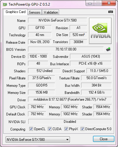 cpuz1 ASUS GTX580 DirectCU II