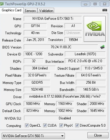1000 2320 copy WinFast GTX 560 Ti 1024MB GDDR5 Review