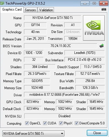df copy WinFast GTX 560 Ti 1024MB GDDR5 Review