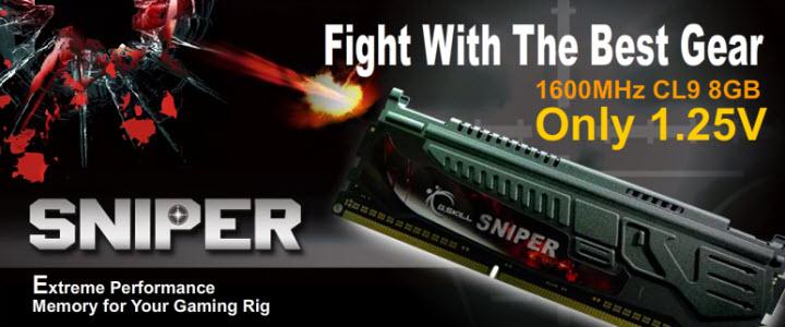 2 G.SKILL SNIPER  F3 12800CL9D 8GBSR2