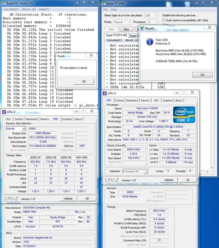 superpi G.SKILL SNIPER  F3 12800CL9D 8GBSR2