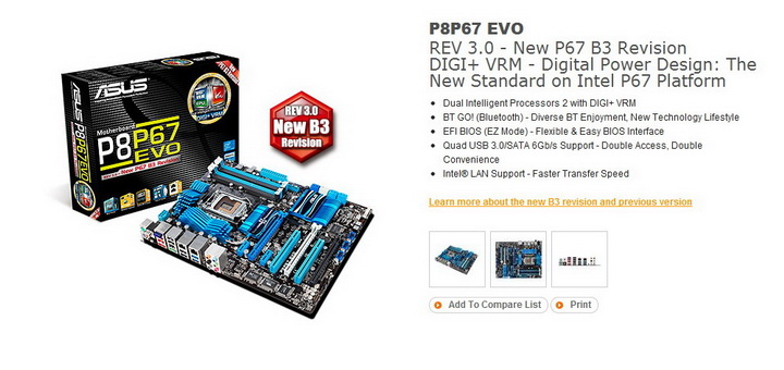 17 ASUS P8P67 EVO Motherboard Review
