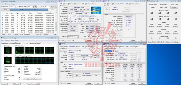 linx 5026ghz ok ASUS P8P67 EVO Motherboard Review