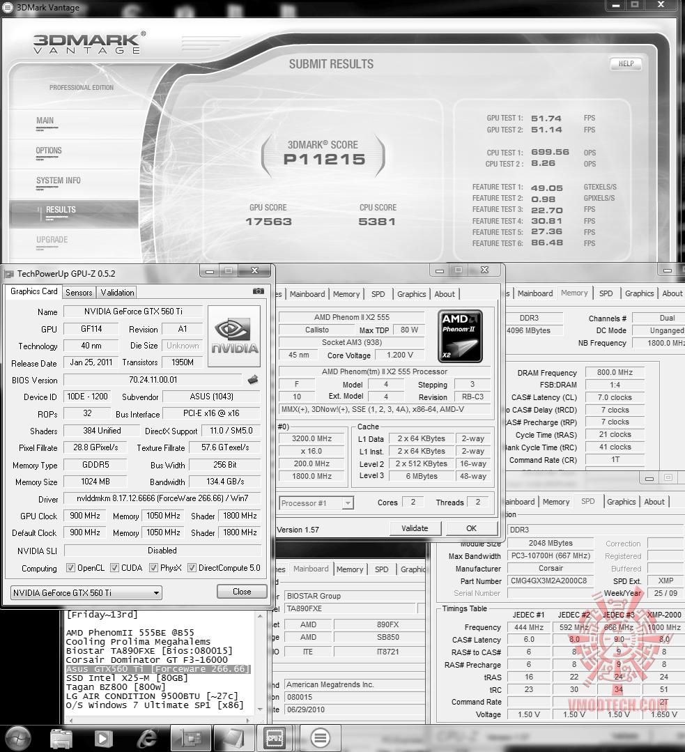 default 3dvantage p11215 Asus GTX560 Ti DirectCUII TOP : Review