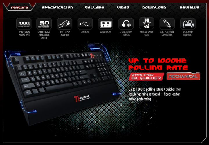 4 7 2011 9 32 24 pm Tt eSPORTS MEKA G1 Mechanical Gaming Keyboard