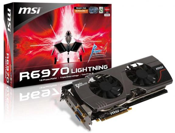 r6970 พลังสายฟ้าฟาดคูณสอง จาก MSI เปิดตัว N580GTX Lightning และ R6970 Lightning