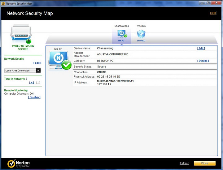 secure map Norton Internet Security 2011 Review