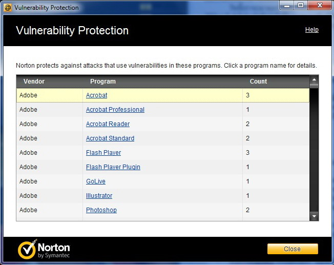 vuln Norton Internet Security 2011 Review