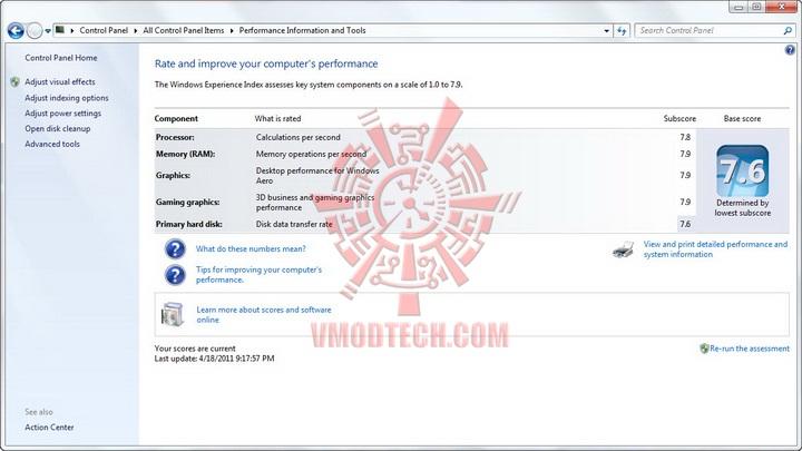 windows score G.SKILL PHOENIX EVO SSD 115 GB