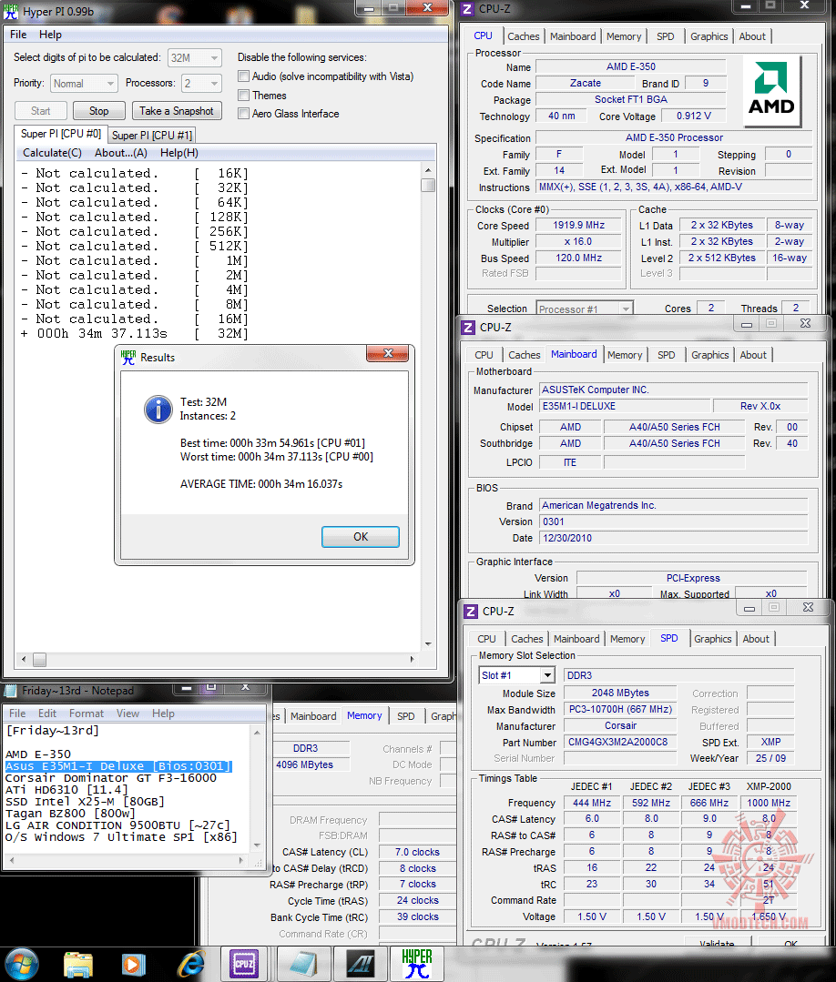 120x16 hyperpi32m Asus E35M1 I Deluxe : Review