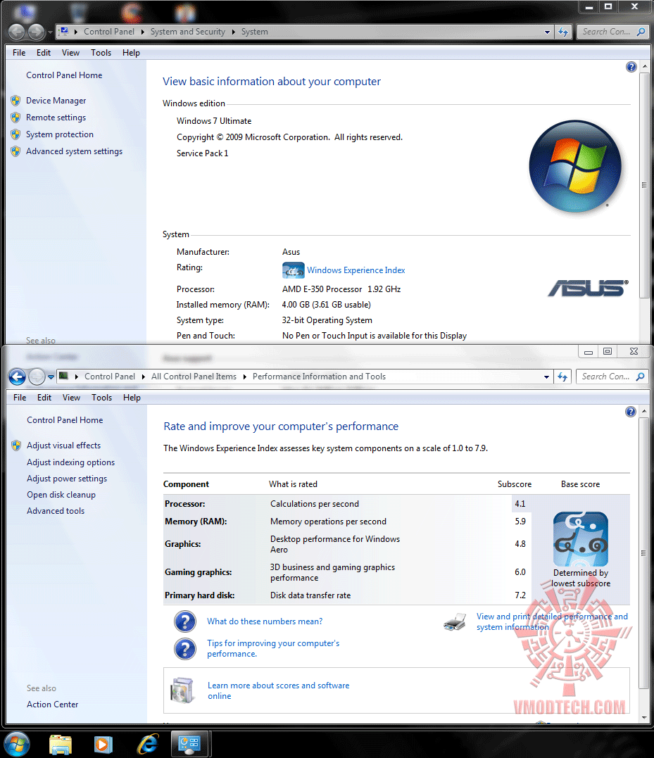 120x16 info win7rate Asus E35M1 I Deluxe : Review