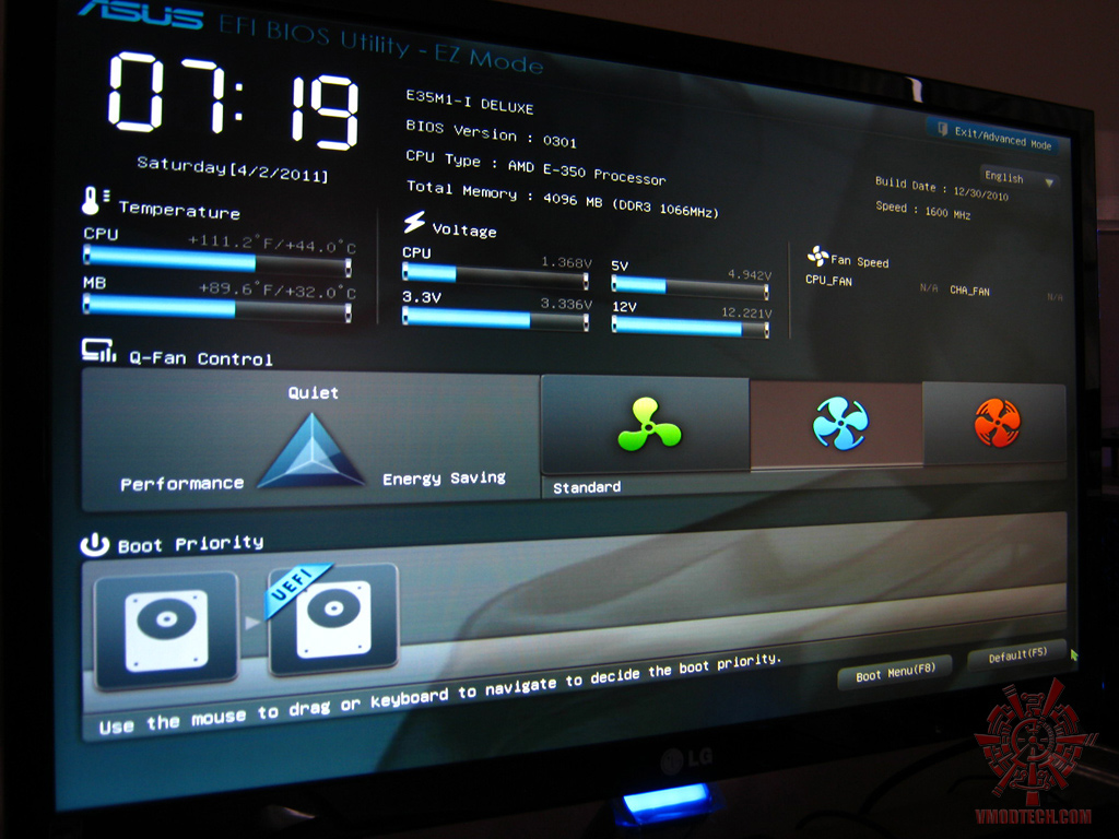bios 01 Asus E35M1 I Deluxe : Review