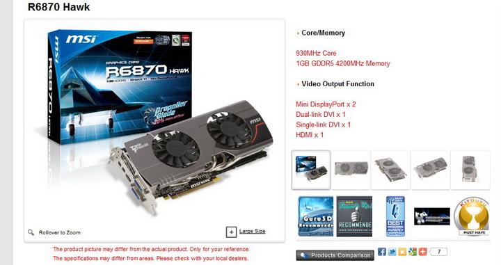 1 msi HD 6870 HAWK 1GB DDR5 Review