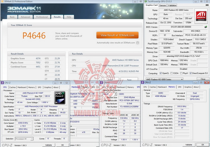3d11 msi HD 6870 HAWK 1GB DDR5 Review