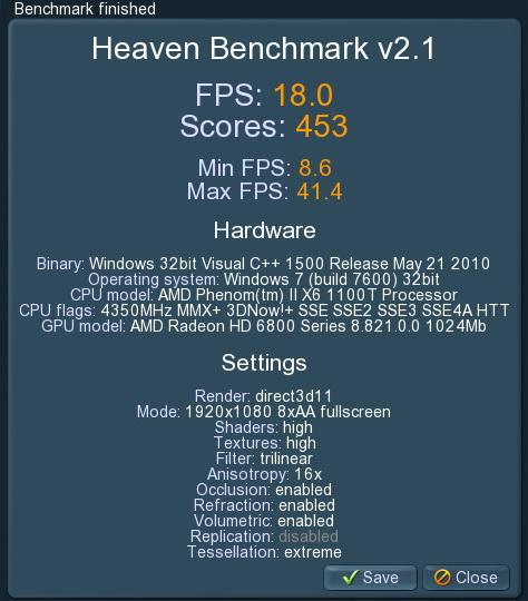 unigine 2011 04 24 21 09 54 81 msi HD 6870 HAWK 1GB DDR5 Review