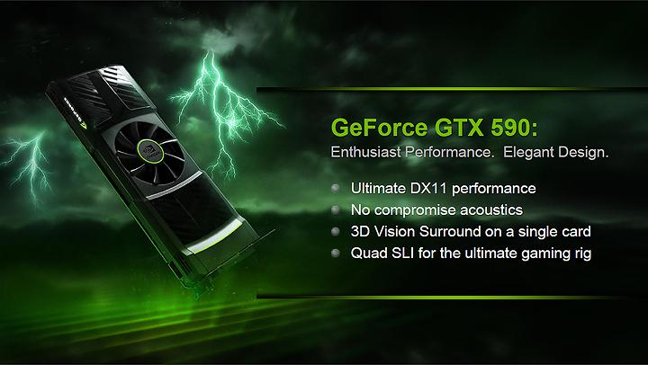 1 GIGABYTE Nvidia GeForce GTX 590