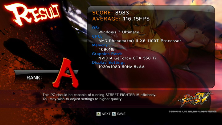 streetfighteriv benchmark 2011 04 28 20 28 17 66 GALAXY Geforce GTX 550Ti 1024MB GDDR5 Review