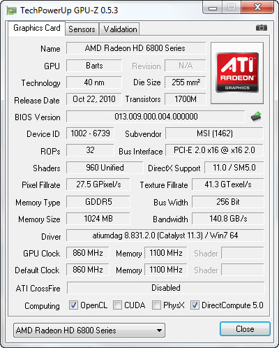 4 25 2011 9 49 51 pm MSI HD6850 Cyclone IGD5 Power Edition