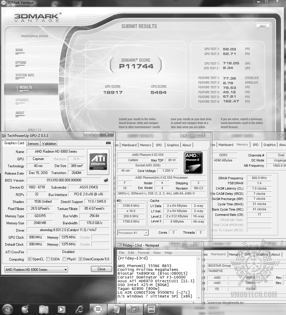 default 3dvantage p11744 Asus ATi HD6970 DirectCUII : Review