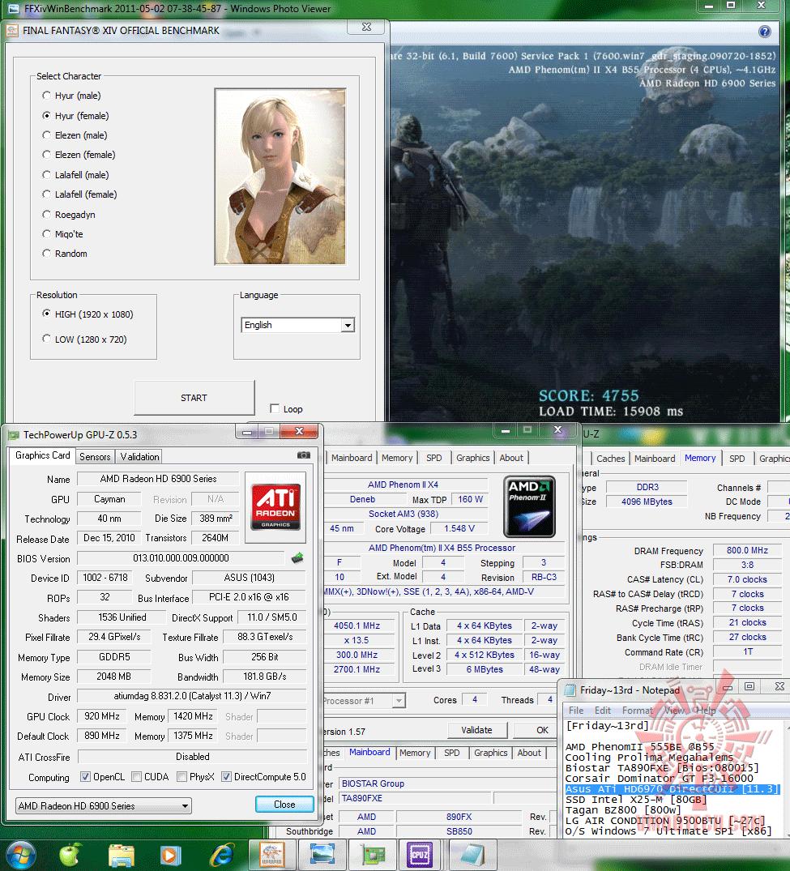 oc 920 1420 dx9 ffxiv 4755 Asus ATi HD6970 DirectCUII : Review