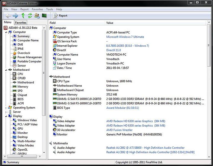 aida summary1 GIGABYTE E350N USB3