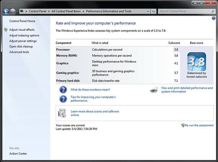 windows rating1 GIGABYTE E350N USB3