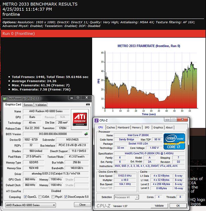 metro MSI HD6850 Cyclone IGD5 Power Edition